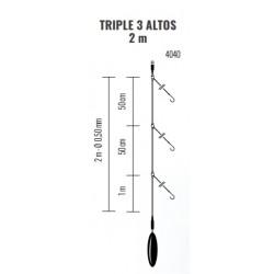 Bajo de línea TRIPLE 2m 3 ALTOS