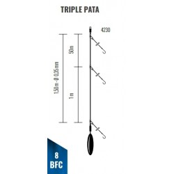 Bajo de línea Triple PATA EMBARCACION 1.50M